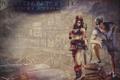 Картинка пират, Resident Evil: Revelations, птица, Chris Redfield, sailor, тату, Jill Valentine