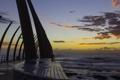 Картинка море, небо, облака, закат, мост, photographer, Ruan Bezuidenhout