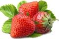 Картинка ягоды, весна, земляника, клубника, листочек