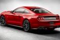 Картинка красный, Mustang, Ford, Форд, Мустанг, вид сзади, Muscle car