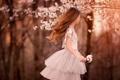 Картинка волосы, весна, девочка, цветение