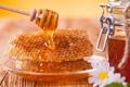 Картинка мед, тарелка, ложка, мёд, соты