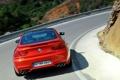 Картинка Красный, Дорога, BMW, Поворот, Оранжевый, Номер, В движении