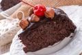 Картинка сладость, пирожное, вишенка, орешки, nuts, cherry, cakes