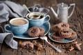 Картинка кофе, еда, зерна, печенье, посуда, натюрморт, корица