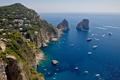Картинка скалы, небо, Капри, остров, Италия, море