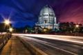 Картинка ночь, USA, США, State Illinois, Wilmette