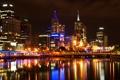 Картинка город, огни, отражение, Австралия