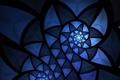 Картинка полумрак, спираль, свет, линии, узор