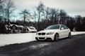 Картинка зима, белый, снег, бмв, BMW, white, E90