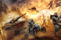 Картинка PlanetSide 2, квадроцикл, солдаты, танк, будущие, война