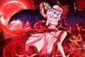 Картинка Девушка, Улыбка, Крылья, Touhou, Remilia Scarlet, Магический круг, Ddfftasogare