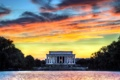 Картинка небо, закат, город, United States, Washington, District of Columbia