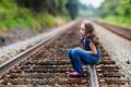 Картинка настроение, девочка, железная дорога