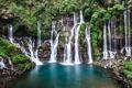 Картинка природа, камни, водопад, мох, поток