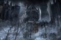 Картинка bloodborne, ночь, мужчина, город, hunter, деревья, арт