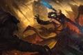 Картинка горы, монстры, монах, лава, посох, раскол, diablo 3