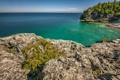 Картинка море, пляж, лето, вода, скалы
