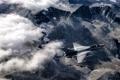 Картинка облака, горы, истребитель, полёт, F-16, Fighting Falcon, многоцелевой