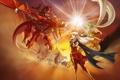 Картинка фентези, магия, дракон, игра, ситуация, аниме, бой