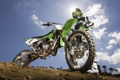 Картинка зеленый, мотоцикл, мотоциклист, Kawasaki KX85