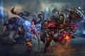 Картинка робот, монстр, арт, Katarina, Ahri, League Of Legends, Graves