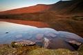 Картинка прозрачность, природа, озеро, отражение, камни, гора