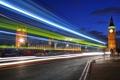 Картинка выдержка, полосы, Ночь, скорость, башни, свет, мегаполис