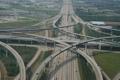 Картинка дорога, мост, развязка, автомобили, развилка