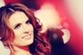 Картинка Stana Katic, брюнетка, макияж, прическа, улыбка, актриса, обработка