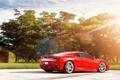 Картинка свет, деревья, Ferrari F430, supercar, феррари, блик, красная