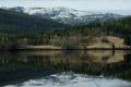 Картинка лес, озеро, отражение, Природа, домики
