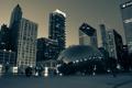 Картинка миллениум парк, USA, Chicago, капля ртути, illinois, небоскребы, Чикаго