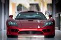 Картинка красный, отражение, суперкар, red, передок, super car, салин с7