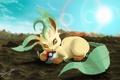 Картинка солнце, животное, земля, шар, лежит, art, Pokemon