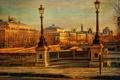 Картинка осень, небо, мост, река, Франция, Париж, дома