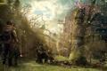 Картинка лес, дерево, здание, зона, сталкеры, survarium