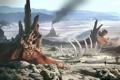 Картинка ландшафт, человек, планета, скелет, Planetside 2