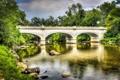 Картинка лес, мост, река, hdr, арка, старинный