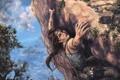 Картинка девушка, скала, Tomb Raider, лара крофт