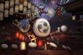 Картинка азия, здания, фейерверк, фонарики, барабан, league of legends, rumble