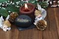 Картинка украшения, шары, свеча, Новый Год, Рождество, Christmas, balls