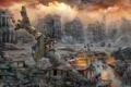 Картинка город, люди, арт, постапокалипсис, Майдан, Из Прошлого — в Будущее
