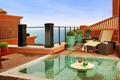 Картинка балкон, вилла, relax, вид, вечер, море, бассейн