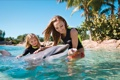 Картинка дельфин, дети, улыбка, девушки, Настроение, очень доброе