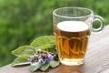 Картинка листья, чай, кружка, напиток