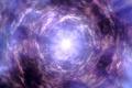 Картинка фиолетовый, небо, облака, свет, воронка