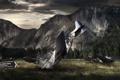 Картинка авария, горы, самолет, погода, Aftermath Valley