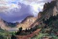 Картинка colors, storm, landscape, mountains, realism, american, painter