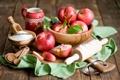 Картинка сахар, фрукты, натюрморт, скалка, нектарины
